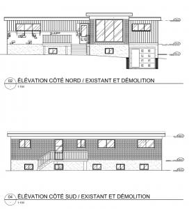 Elevation existante nord sud